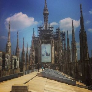 Catedral de Milano na parte de cima